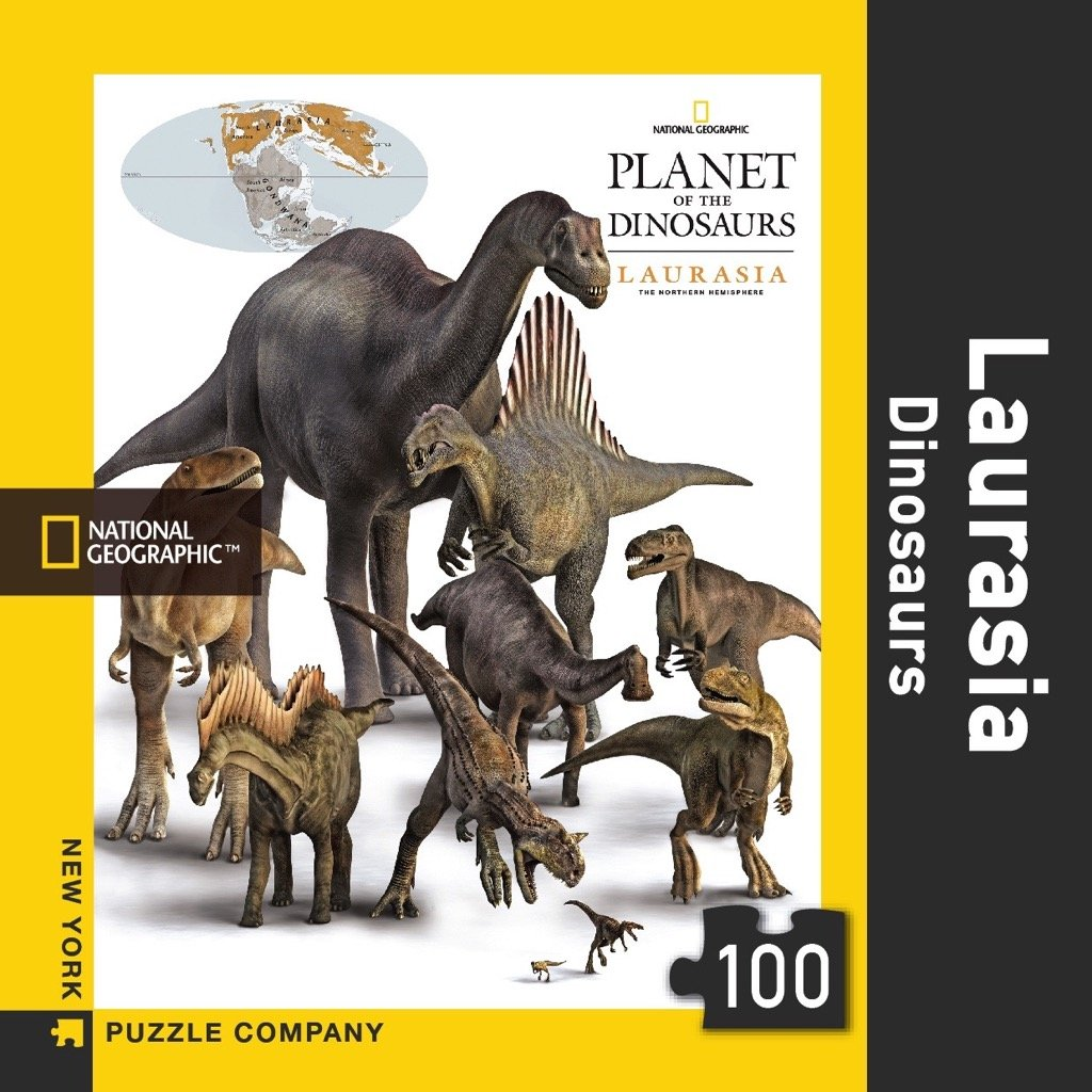 National Geographic Laurasia Dinosaurs 100 Piece Jigsaw Puzzle New York Puzzle Company