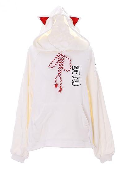 Kawaii-Story - Sudadera - para Mujer Blanco Blanco Talla única: Amazon.es: Ropa y accesorios