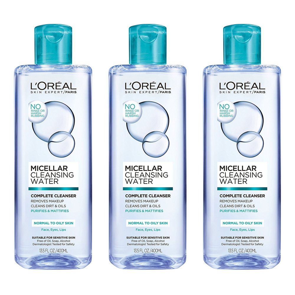 Loral Paris Micellar Cleansing Water Complete Cleanser L Oreal Makeup 250ml Blue 135 Fl Oz Beauty