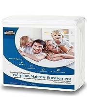 Utopia Bedding Funda de colchón Impermeable con Cremallera - Altura del colchón 25-35 cm - Protección contra líquidos, Insectos y ácaros del Polvo (135 x 190 cm)