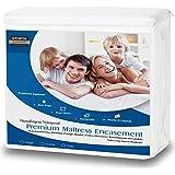 Utopia Bedding Funda de colchón Impermeable con Cremallera - Altura del colchón 25-35 cm - Protección contra líquidos, Insectos y ácaros del Polvo (150 x 200 cm)