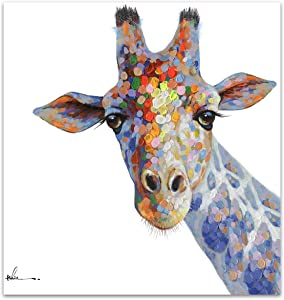 Floopy's Wall Décor Giraffe Portrait Canvas Wall Art Ready to Hang Painting 28