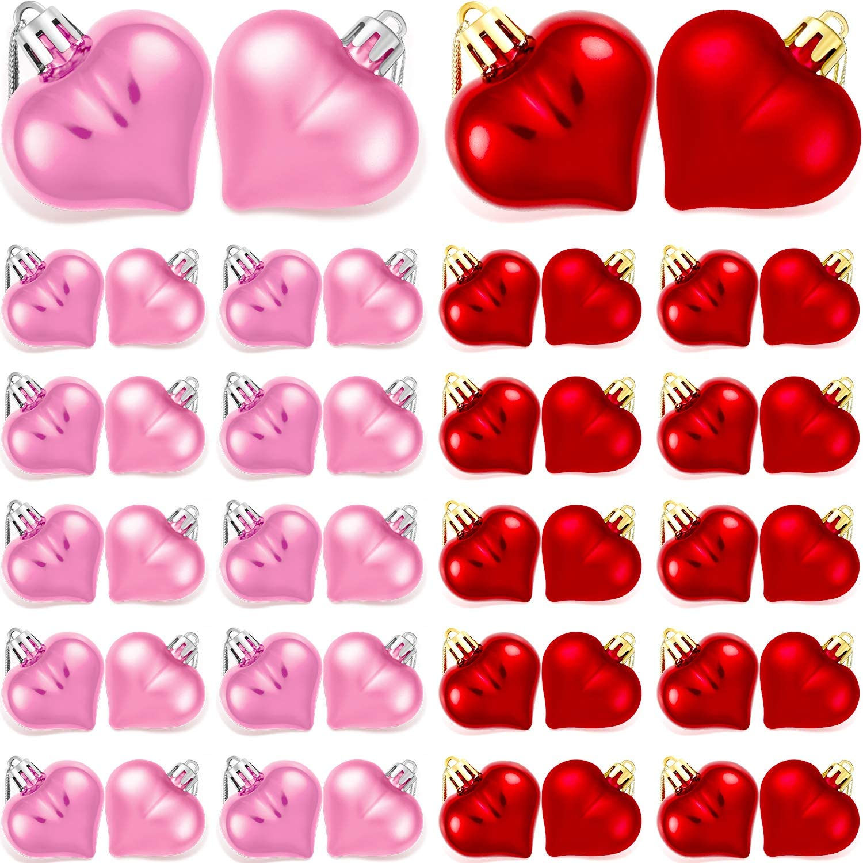 Shatterproof Heart Ornaments 48 Count