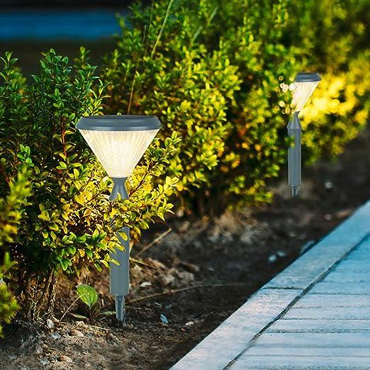 SHYYL Luces solares Exteriores, Luces de jardín LED Impermeables ...