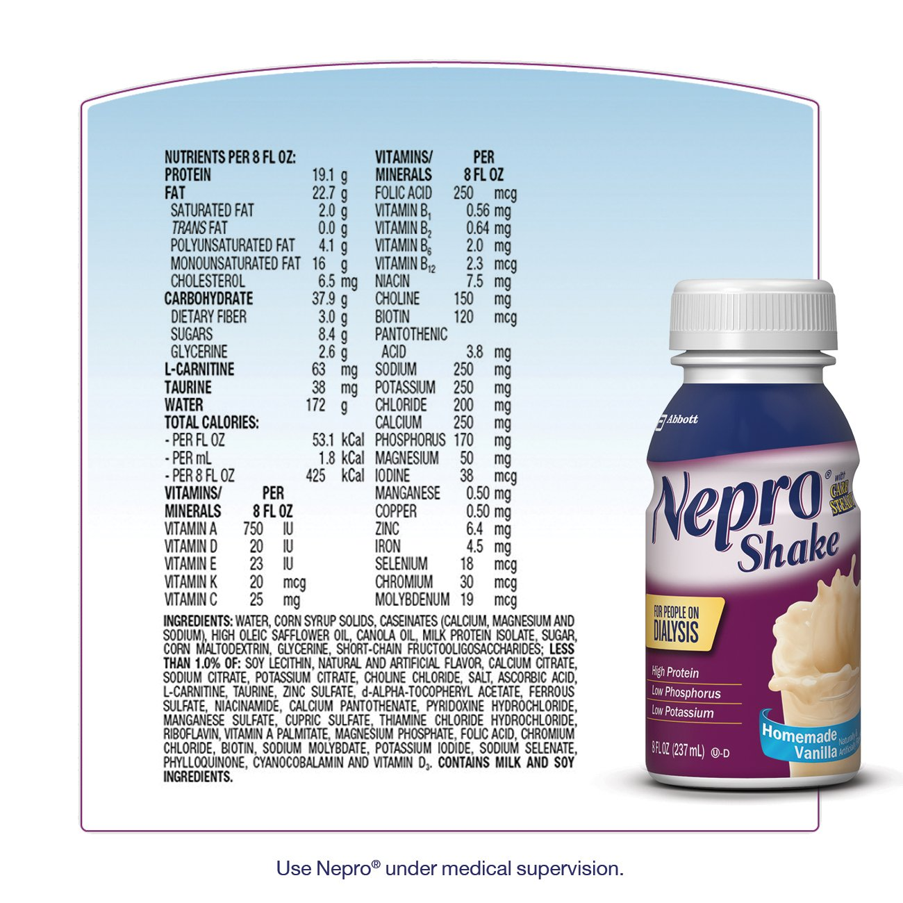 Nepro Therapeutic Nutrition Shake, Vanilla, 8 Ounce (Pack of 16) by Nepro (Image #9)