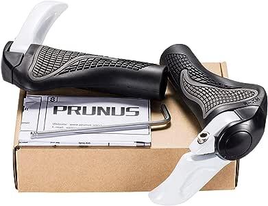 Puños PRUNUS™ para Manillar de Bicicleta diseño ergonómico Caucho Bici de montaña MTB o BMX, Blanco: Amazon.es: Deportes y aire libre