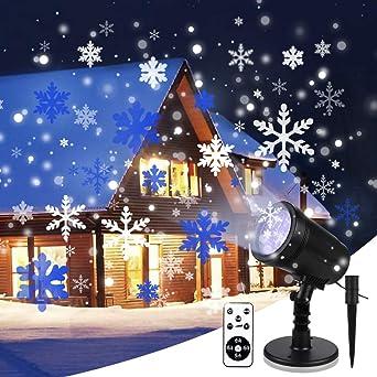 Luces de Proyector de Navidad YUE GANG Impermeable IP65 Copo ...