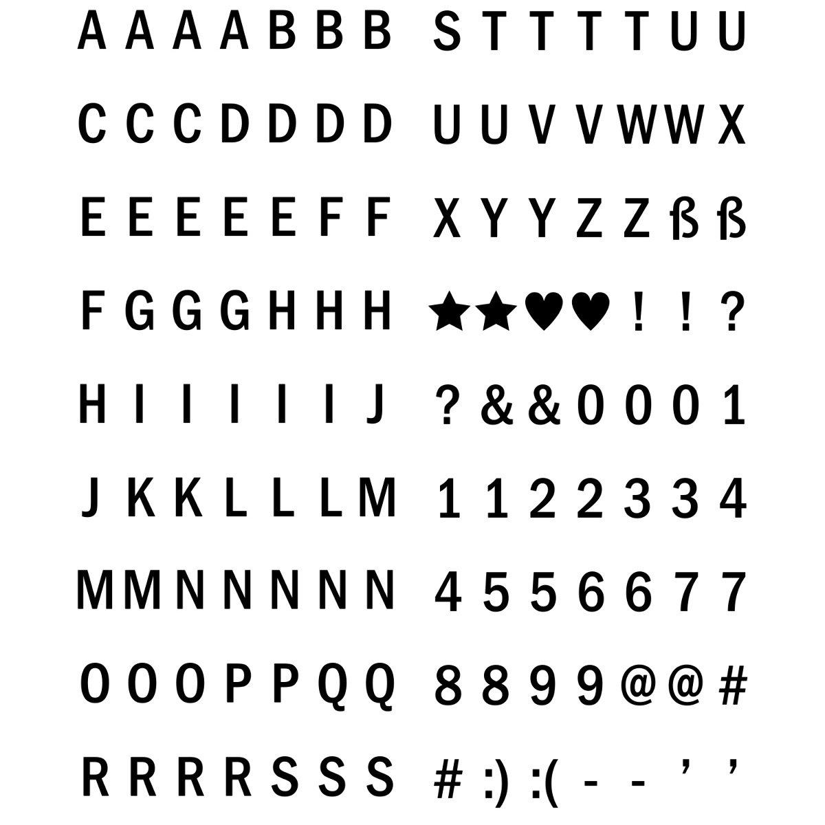 126x Emoji para Lightbox A4 kwmobile Set de emoticones para Caja de luz LED cinematogr/áfica Set complementario de Emojis para Panel de Cine