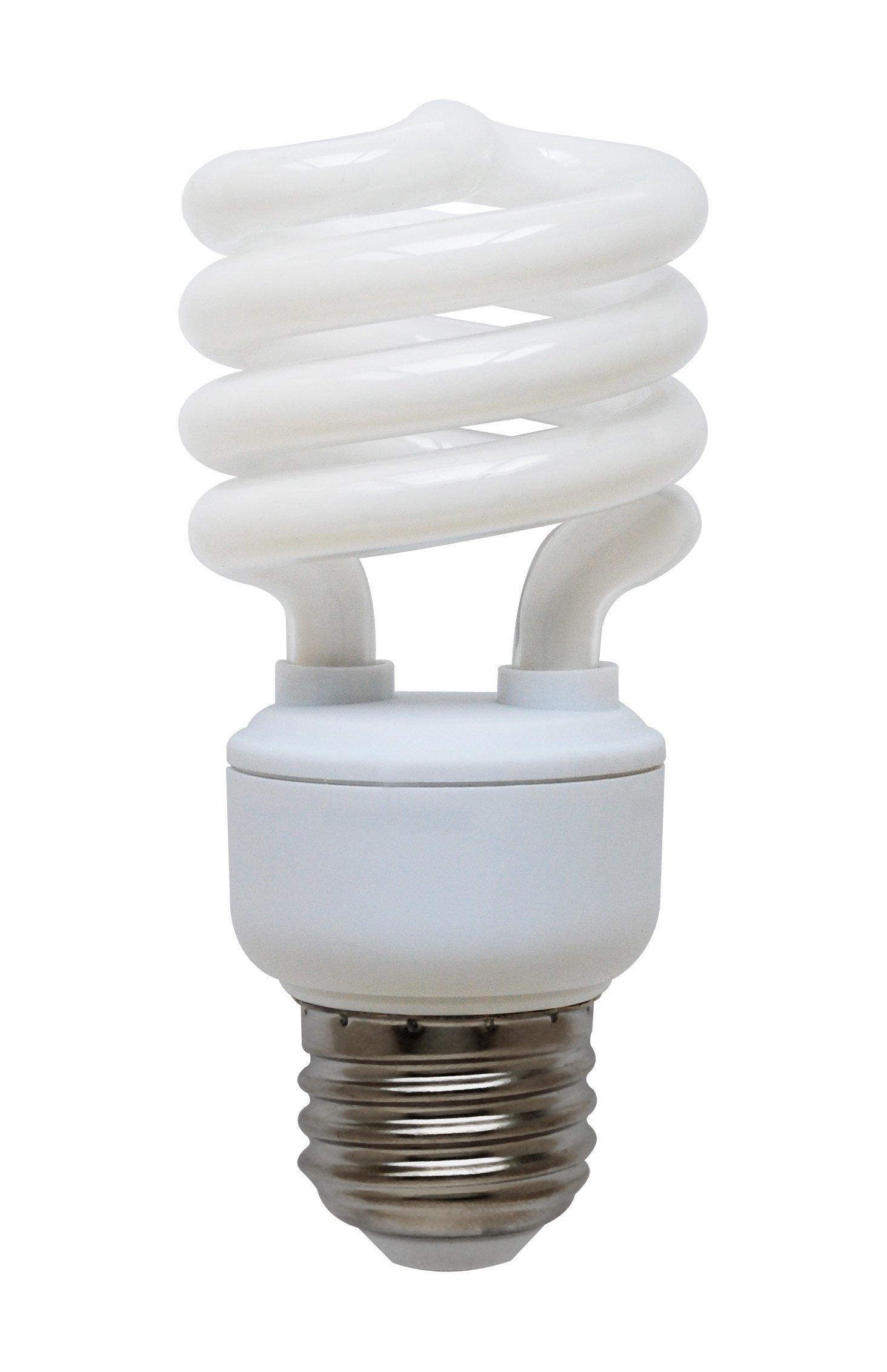Goodlite G-10843 13-Watt CFL 60 Watt Replacement 900-Lumen T2 Spiral Light Bulb , Super Long 12,000 hour life (10.9 Years) 25-Pack