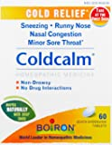 Boiron Homeopathic Medicine Coldcalm Tablets for Colds, 60-Count Boxes (Pack of 3)