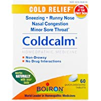 Boiron Coldcalm Cold Relief Medicine, 60 Tablets (Pack of 3). Quick-Dissolvin for...