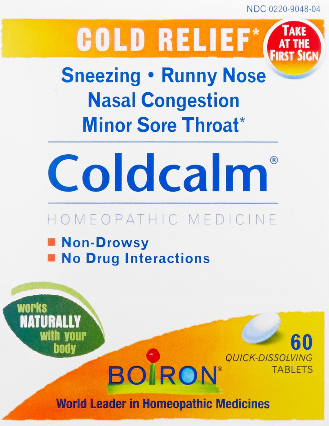 Boiron Coldcalm Cold Relief Medicine, 60 Tablets (Pack of 3). Quick-Dissolvin for Sneezing, Runny Nose, Nasal Congestion and Minor Sore Throat. Non-drowsy Cold Medicine, Natural Active Ingredients by Boiron