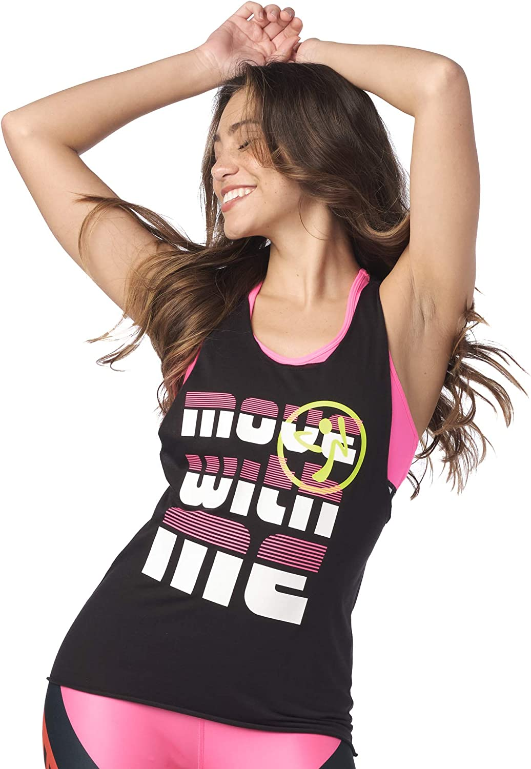 Zumba Fitness Damen Zumba Dance Fitness Workout Muscle Tank Tops for Women Breathable Active Gym Top Panzer