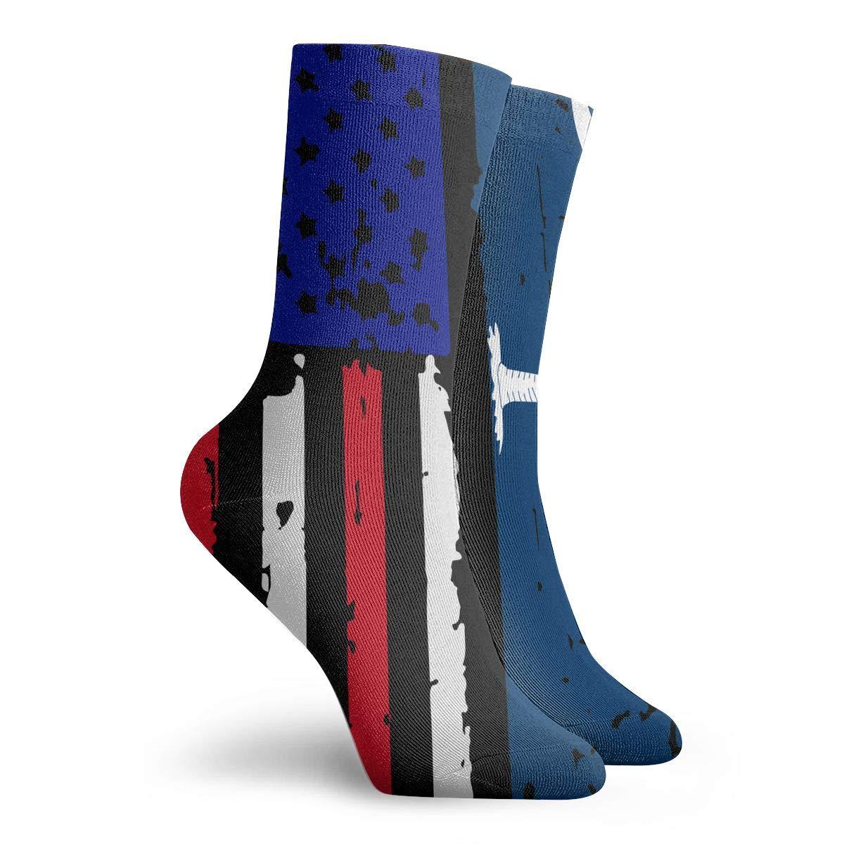 Women Men South Carolina American USA Flag Pride Cushion Ankle Socks