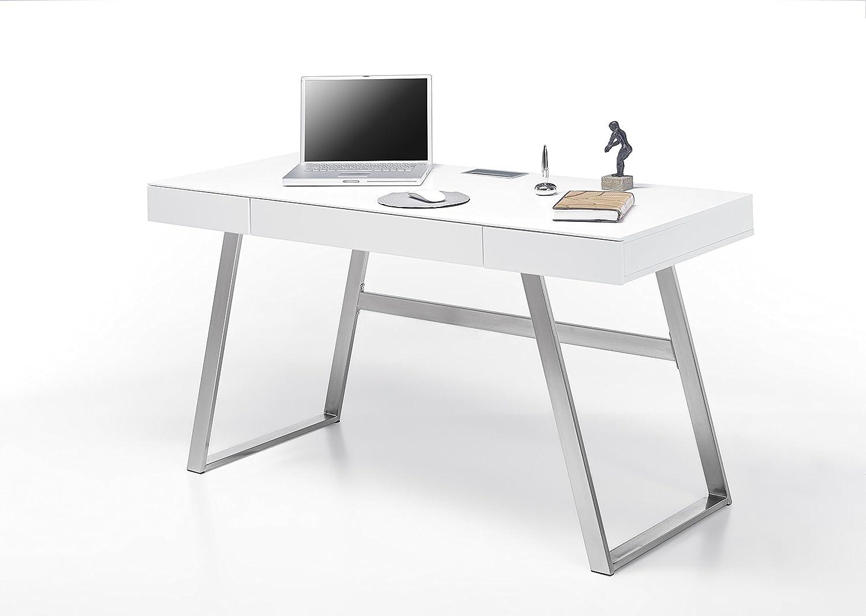 Robas Lund Aspen Escritorio, Blanco, 60 x 140 x 75 cm: Amazon.es ...