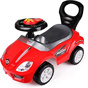 freddotoys Deluxe Mega Ride on Push Car Foot to Floor (Red)