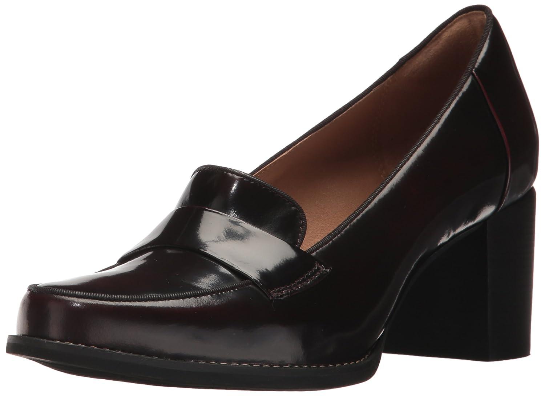 Clarks , Damen Sneaker Burgundy Shiny Leder