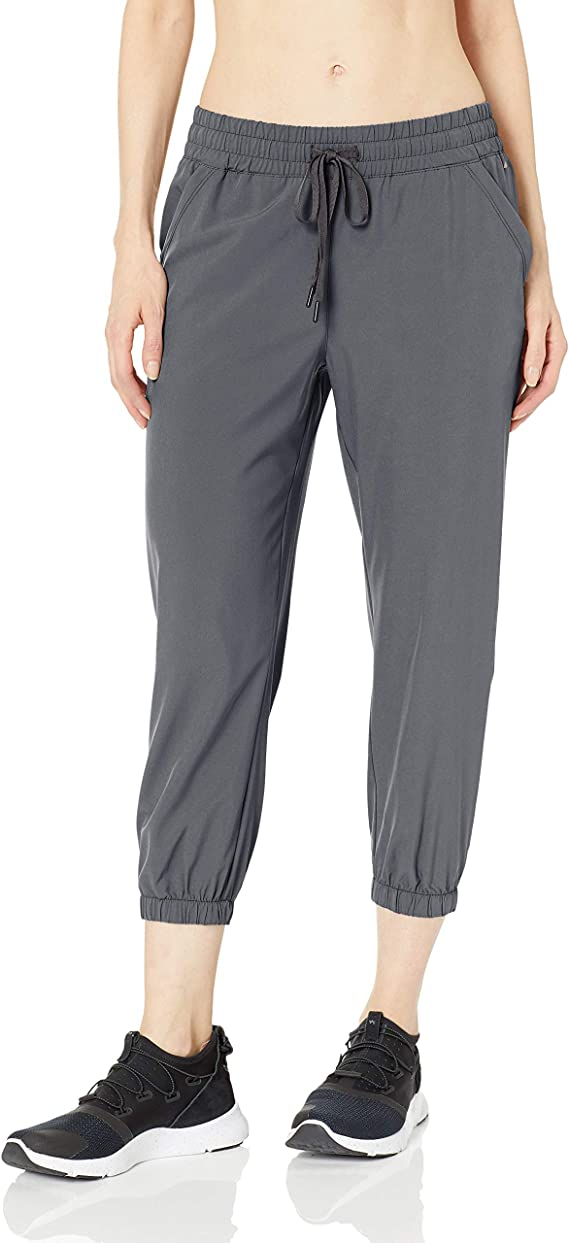 Amazon Essentials Women's Studio Woven Stretch Crop Jogger Pant