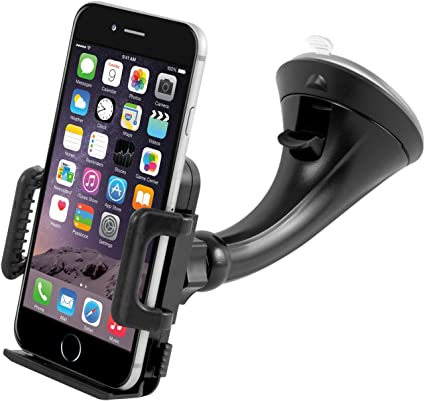 Black Universal Suction Cup Holder Stand Center Console Bracket Dasunny Dashboard Cell Phone Holder
