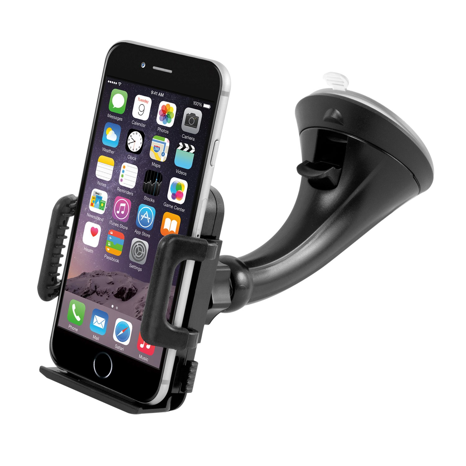 Car Mount Holder, Getron Windshield Dashboard Universal Car Cell Phone Cradle for iPhone X 8 Plus 8 7 Plus 6S 6 SE 5S Samsung Galaxy S8 Plus S7 Edge Note 8 Google Pixel 2 XL LG G6 and All Smartphones by Getron (Image #1)