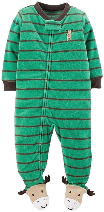 d4c75413ec78 Amazon.com  Carter s Baby Boys  Striped Art Footie (Baby) - Moose ...