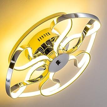 Deckenlampe Im Geschwungenen Design Leuchte Mit Verspielten Ornamenten Wohnzimmerlampe Fest Installierten LED