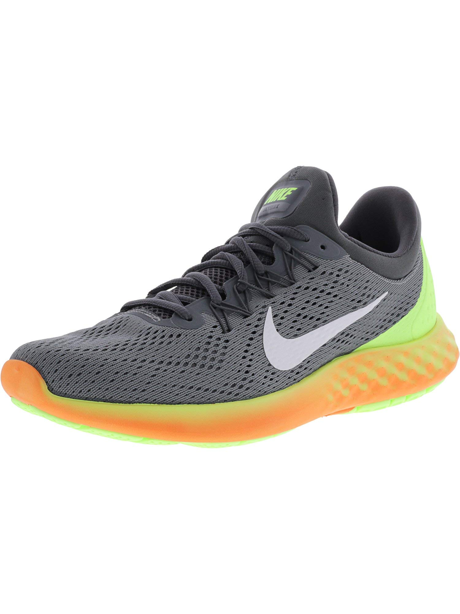 first rate 0ae72 6f5f6 Galleon - Nike Men s Lunar Skyelux Cool Grey White - Dark Volt Ankle-High  Fabric Running Shoe 9M
