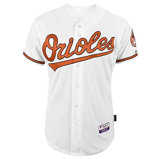 573b13165d2 MLB Men's Baltimore Orioles Six Button Cool Base Authentic Home Jersey ( White, 40/