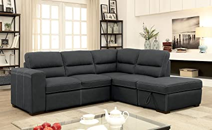 Amazon.com: Esofastore Contemporary Sectional Sofa Set Converts Into ...