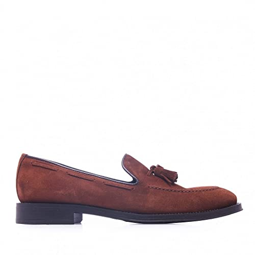Castellanísimos Mocasines de Piel con Borlas Hombre Marrón: Amazon.es: Zapatos y complementos