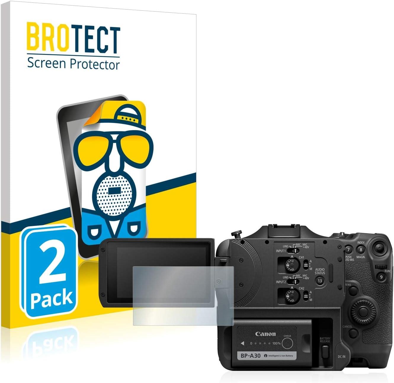 Anti-Reflex Anti-Fingerprint BROTECT 2X Entspiegelungs-Schutzfolie kompatibel mit Canon EOS C70 Displayschutz-Folie Matt