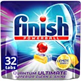 Finish Powerball Quantum Ultimate Dishwasher Tablets Superior, Clean Lemon, 32 Pack