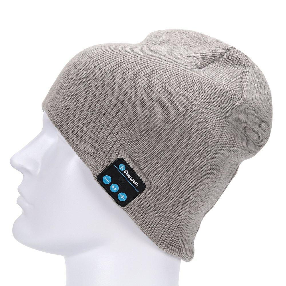 molshine Bluetooth Wireless Music Beanie Hat Women Men Winter Knitted Hat Trendy Cap with Microphone Stereo Headphones Headset for Sport Running Dancing