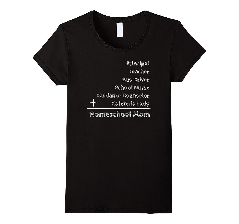 Womens Homeschool Mom\'s Many Jobs Funny Shirt-ANZ - Anztshirt