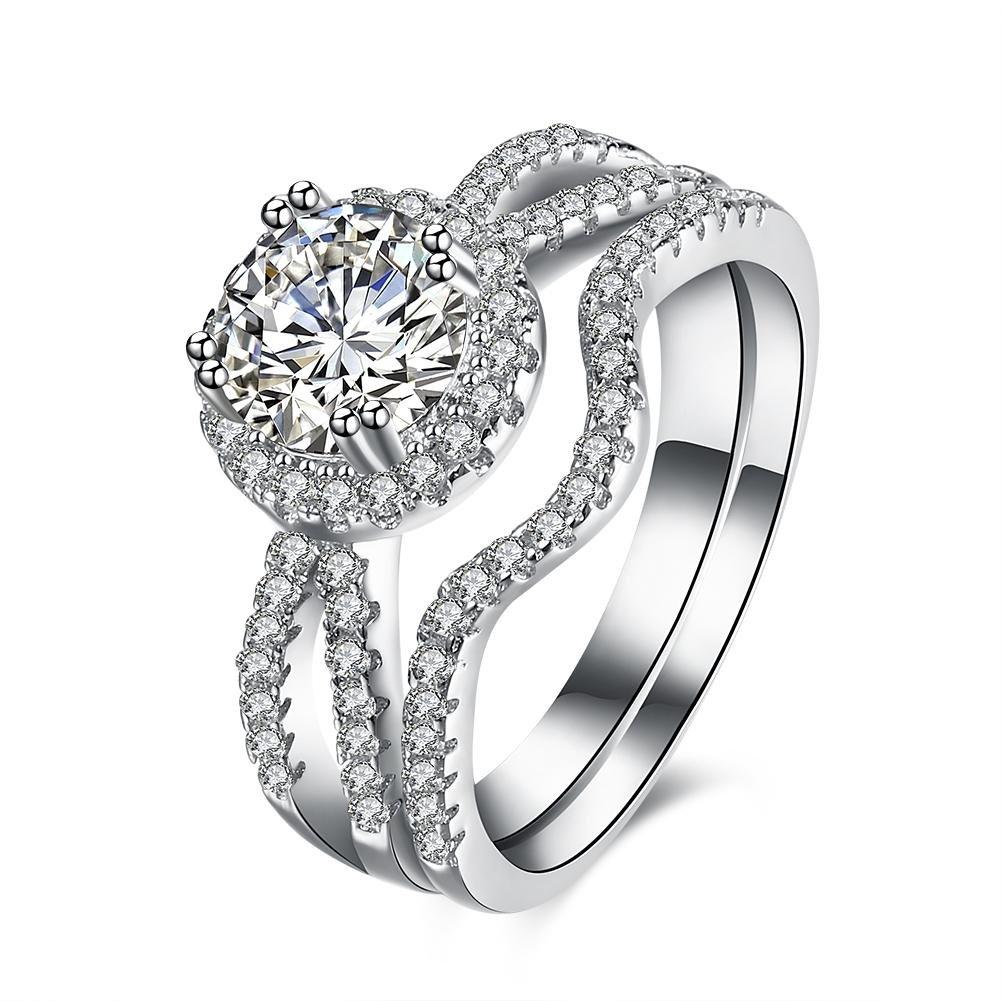 Amazon Com Women Wedding Ring 2 Carat Round Brilliant Cubic