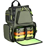 SeaKnight Fishing Tackle Backpack, Large Storage with 4 Trays, Outdoor Multifunctional Box Tackle Bag for Fishing…