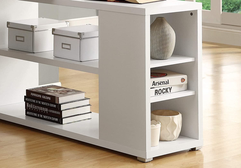 Monarch Specialties Hollow-Core Left or Right Facing Corner Desk Dark Taupe