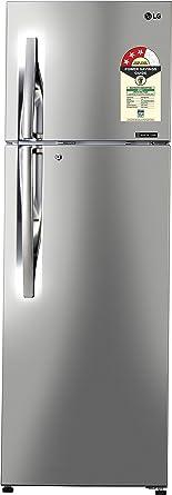 LG 360 L 3 Star Frost Free Double Door Refrigerator(GL-C402RPZU.DPZZEBN, Shiny Steel, Inverter Compressor)