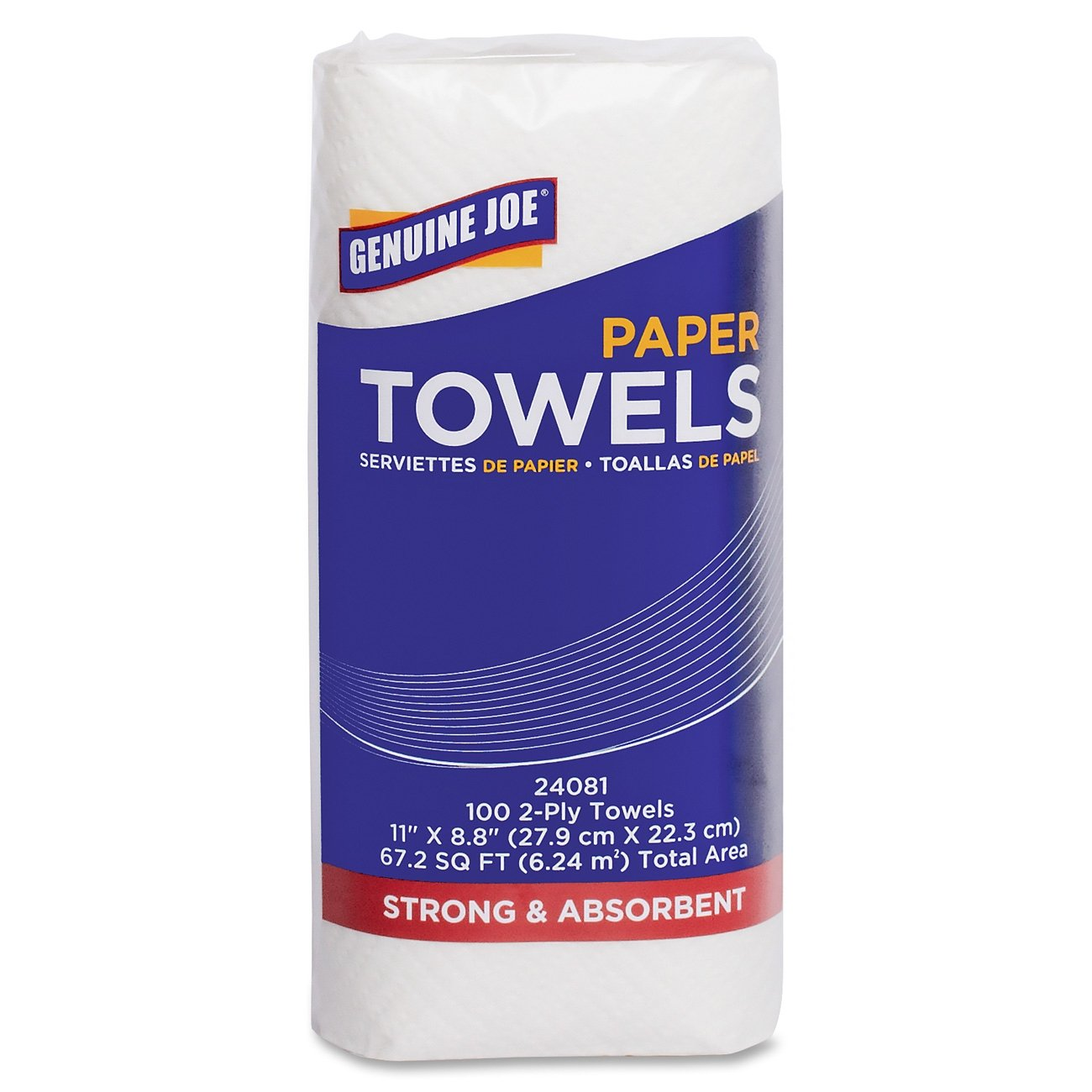 Amazon.com: Genuine Joe GJO24081 2-Ply Household Roll Paper Towels, 100 Sheets/Roll, 11