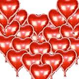 MZTD 24pcs 46*53cm Palloncini di Cuore Elio Matrimonio Rosso con Corde Decorazione di Matrimonio Nozze Partito Atmosfera romantica Amore San Valentino Anniversario