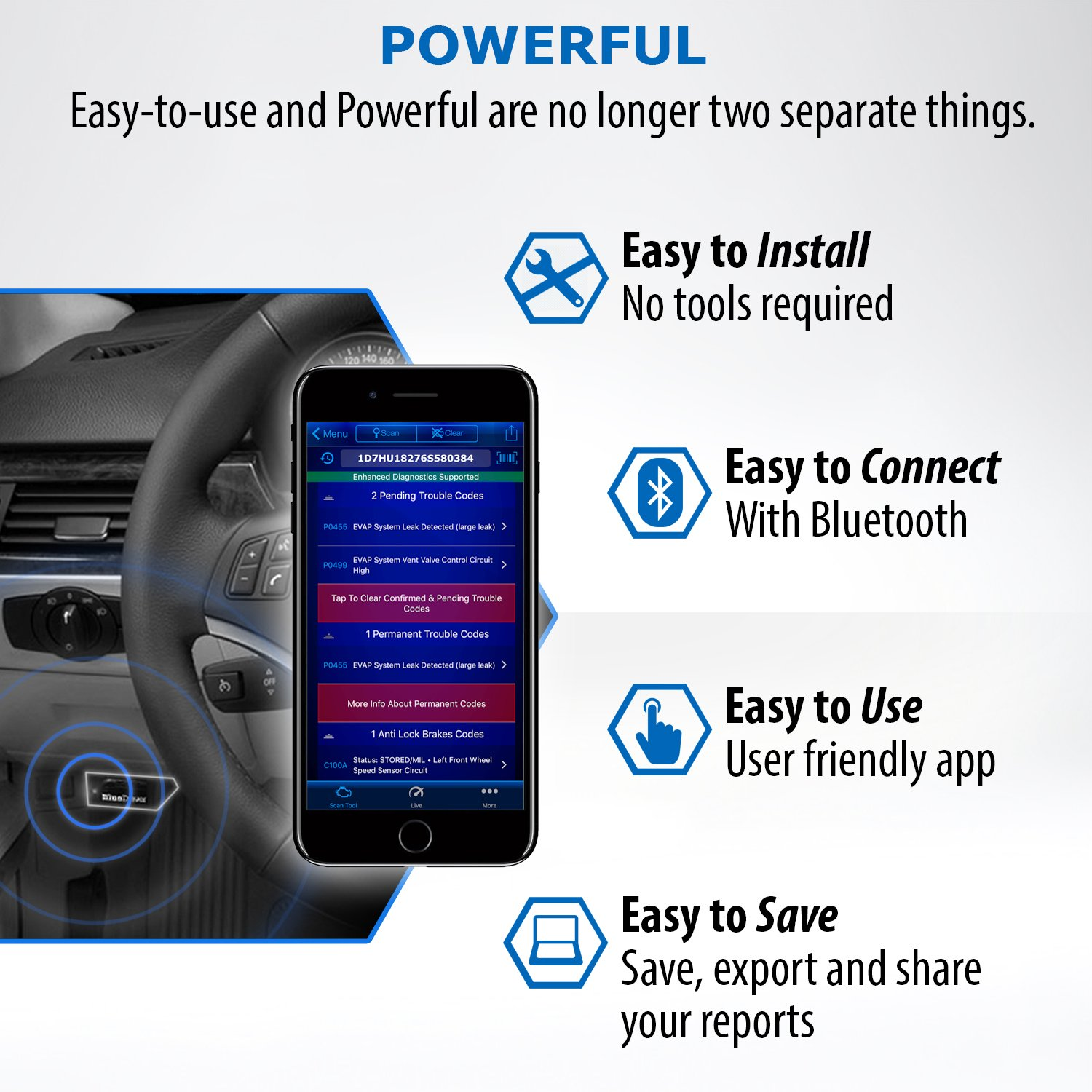 Bluedriver Bluetooth Pro Obdii Scan Tool For Iphone Style In A 7 Way Rv Wiring Diagram Lighting Android Automotive
