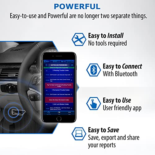 best obd2 app: BlueDriver obd2 car code reader app