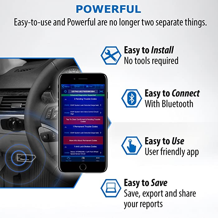 BlueDriver Bluetooth is one of the best Ford readers