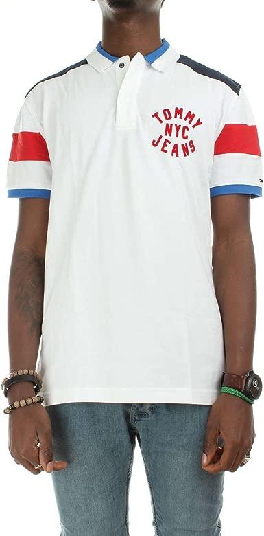 Tommy Jeans Polo Essential Badge Blanco XXL Blanco: Amazon.es ...