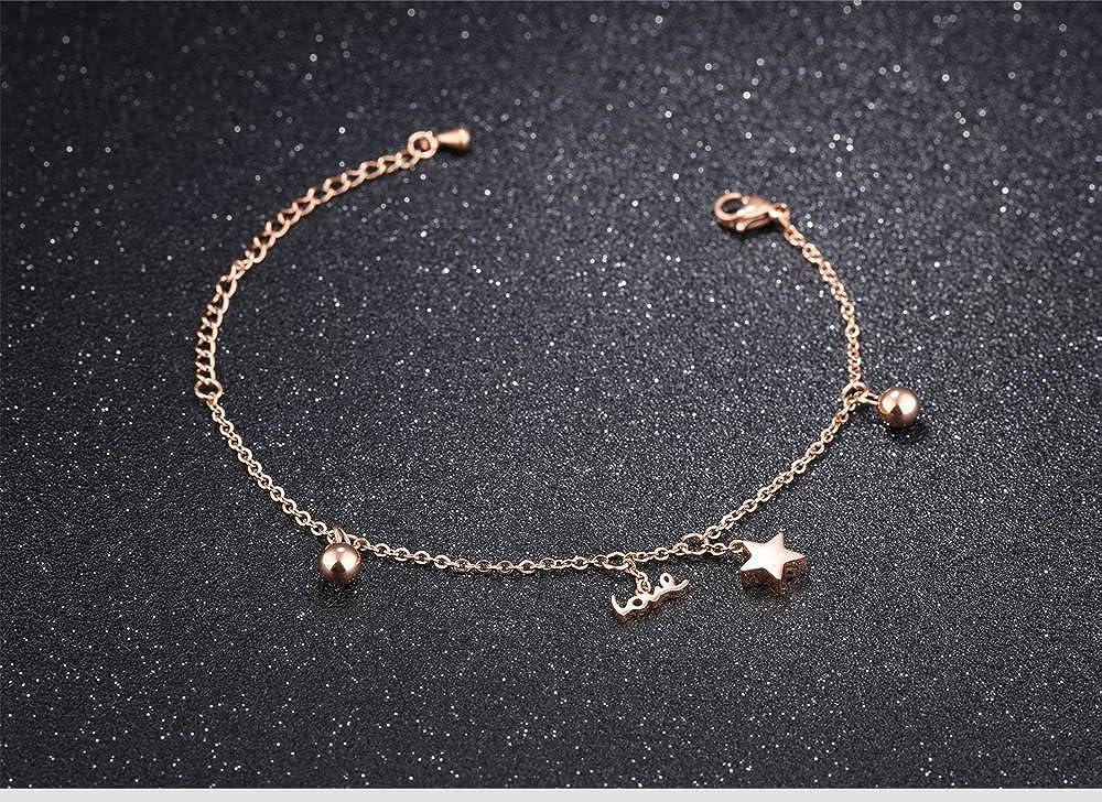 Silver Rose Gold Adjustable Charm Forever Bracelet For Women Girls Keybella Women Star Love Bracelet