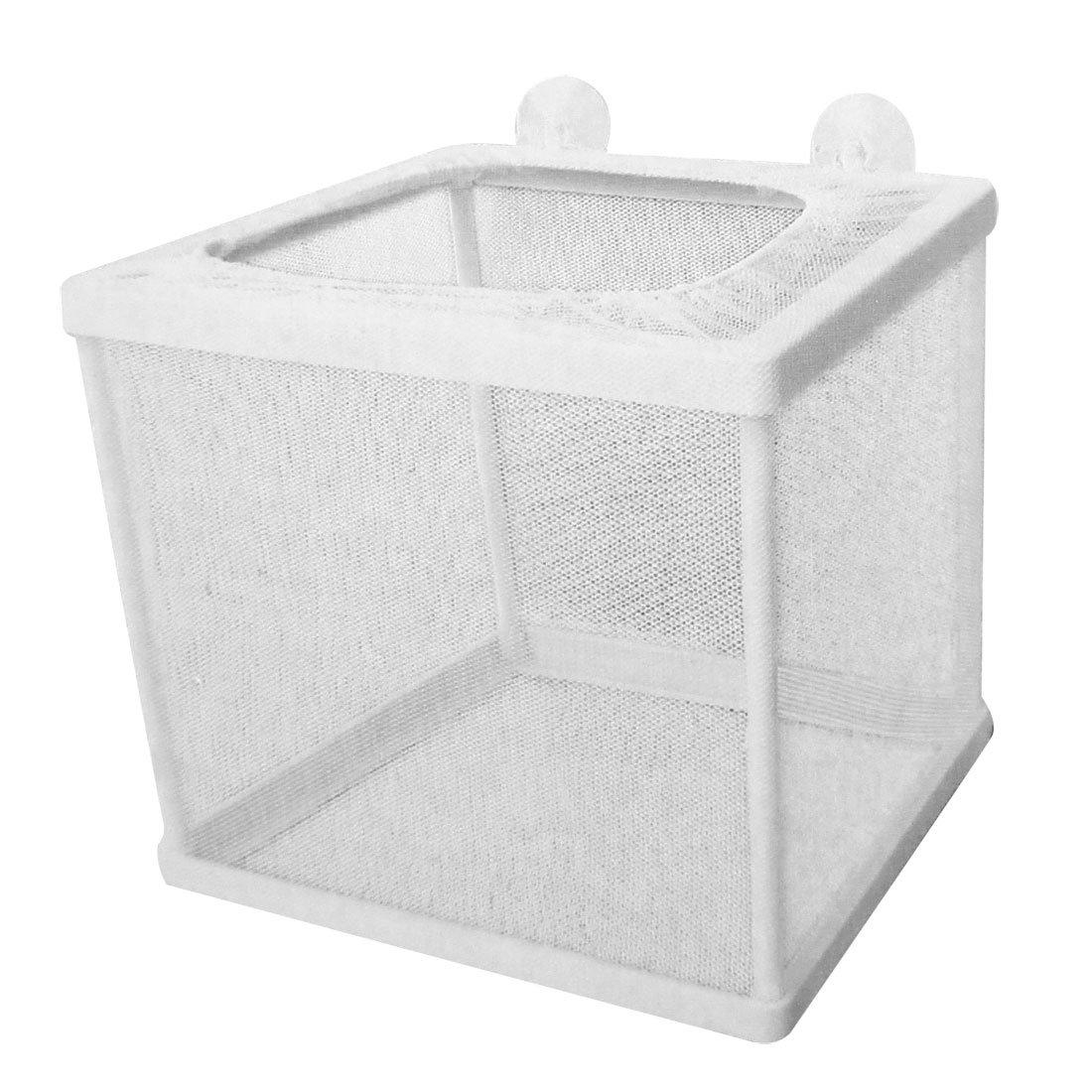 Sourcingmap Pondoir avec filet pour aquarium Plastique Blanc a12032600ux0748
