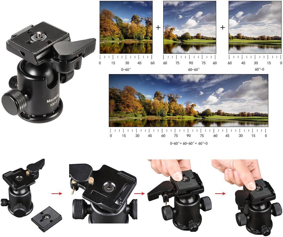 Andoer Manbily Km 0 Pro Camera Kugelkopf Stativ Kopf Elektronik