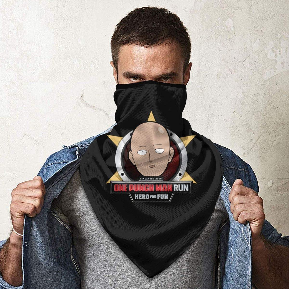 HCKZ Scaldacollo One Punch-Man Outdoor Face Bocca Sport antivento Scudo da sci Sciarpa Bandana Uomo Donna