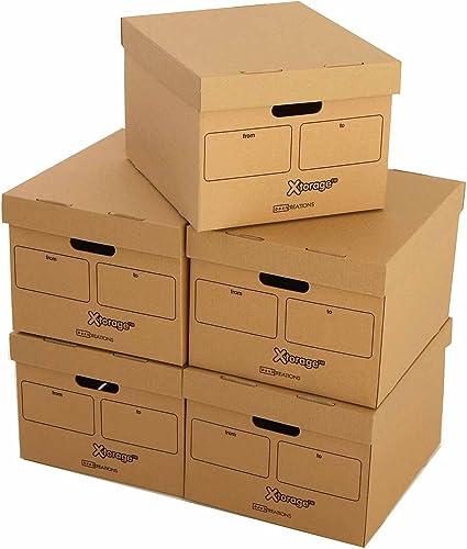 Ryman - Juego de cajas de archivo, 5 unidades, color burbuja ...