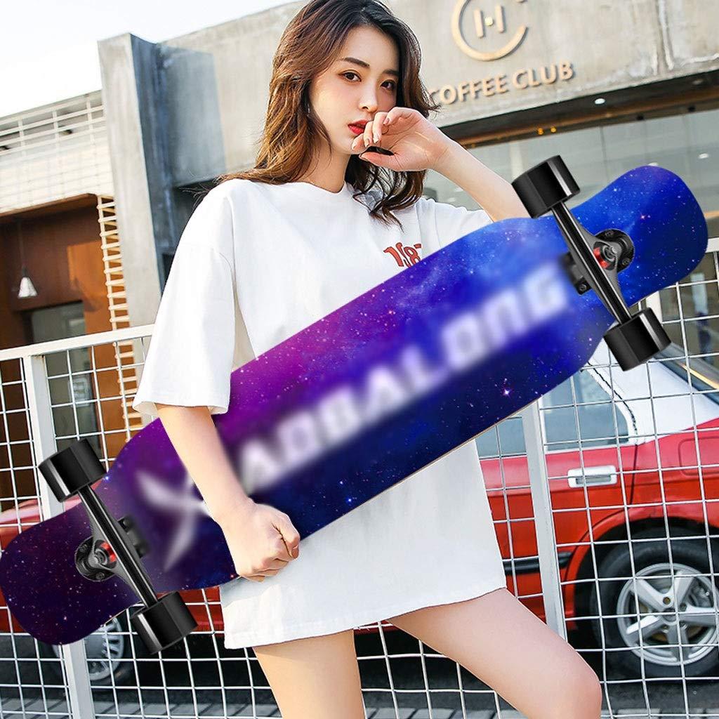 100%正規品 DUWEN スケートボードメープルロングボード初心者スケートボードティーン四輪スクーター大人の男の子女の子ブラシストリートダンスボード (色 (色 : B07R44YK8Y C) B07R44YK8Y E E E, 大阪喜安 OSAKA Kian:8fa9e46f --- 4x4.lt